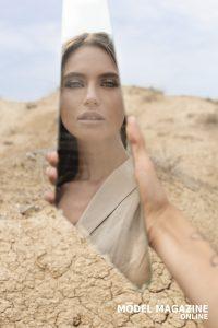 Somewhere in the desert - Erika Nicolosi, photographed by Giuseppina Musumeci